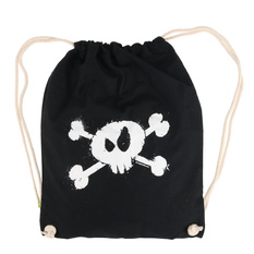 Sackpack (benched bag/ backpack) Splashed Skull - Metal-Kids, Metal-Kids
