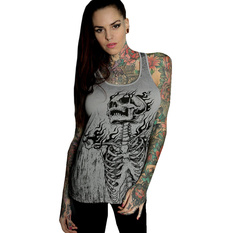 Women's top HYRAW - Graphic - SKULL AND BONES, HYRAW