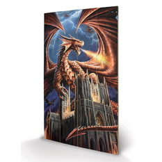 Wooden painting ANNE STOKES - (Dragon's Fury), ANNE STOKES