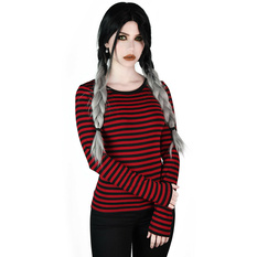 Women's t-shirt with long sleeves KILLSTAR - Jett - BLOOD, KILLSTAR