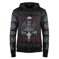 Men's hoodie VICTORY OR VALHALLA - VIKING SHIELD, VICTORY OR VALHALLA