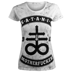 t-shirt hardcore women's - SATANIC MOTHERFUCKER - AMENOMEN, AMENOMEN
