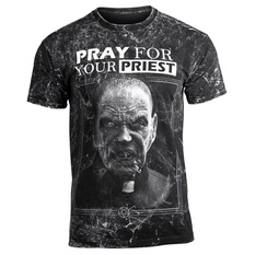 t-shirt hardcore men's - PRAY FOR YOUR PRIEST - AMENOMEN, AMENOMEN
