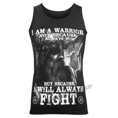 Top Men's VICTORY OR VALHALLA - I AM A WARRIOR, VICTORY OR VALHALLA