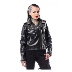 Women´s biker jacket HEARTLESS - RAZER - BLACK, HEARTLESS