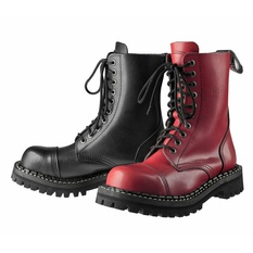 boots STEADY´S - 10 eyelets - Black red - STE/10_black/red