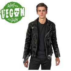 Men's leather jacket  STRAIGHT TO HELL - Vegan Commando II, STRAIGHT TO HELL