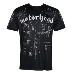 Men's t-shirt (technical) Motörhead - LEATHER VEST - BLACK - AMPLIFIED, AMPLIFIED, Motörhead